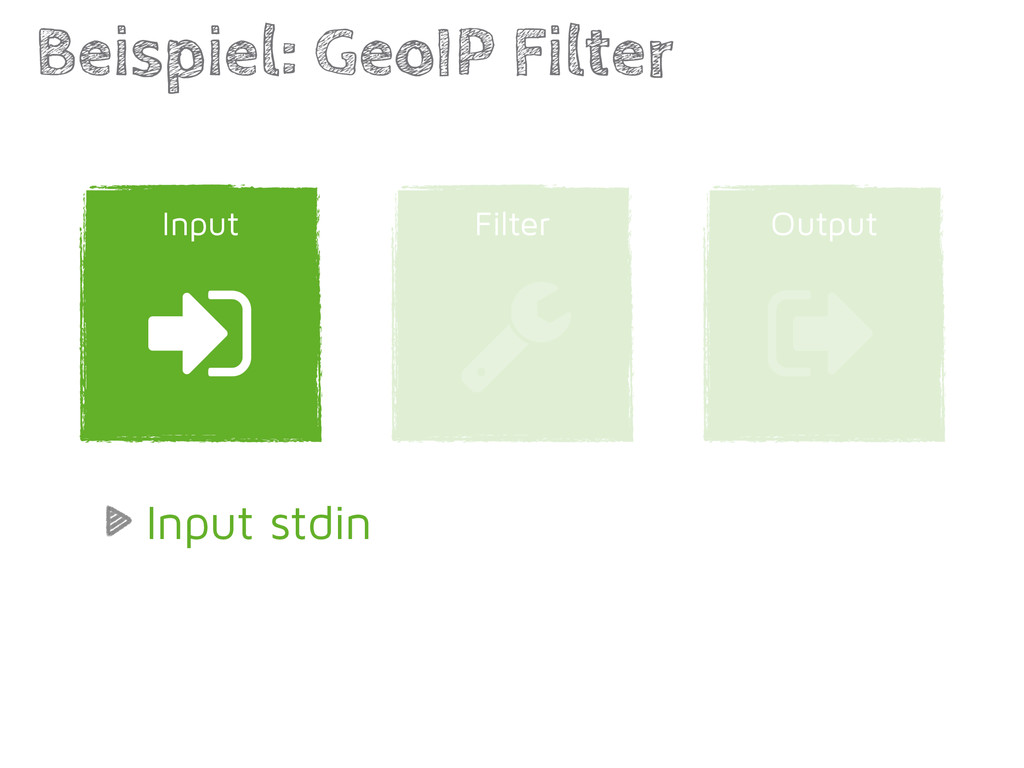 Output Filter Beispiel: GeoIP Filter ) Input * ...