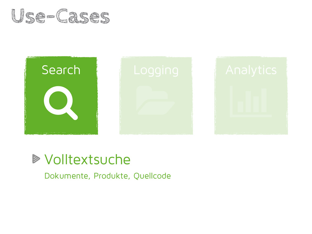 Analytics Logging Use-Cases | 1 Search / Vollte...