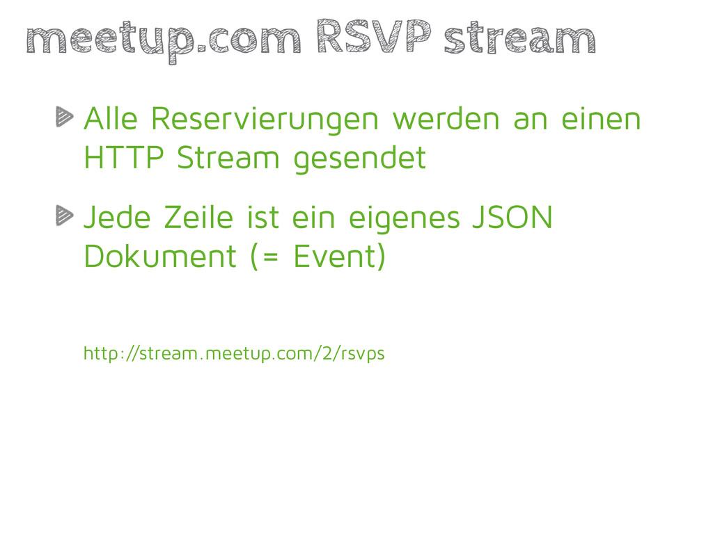 Alle Reservierungen werden an einen HTTP Stream...
