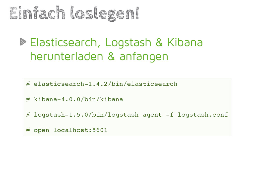 Elasticsearch, Logstash & Kibana herunterladen ...