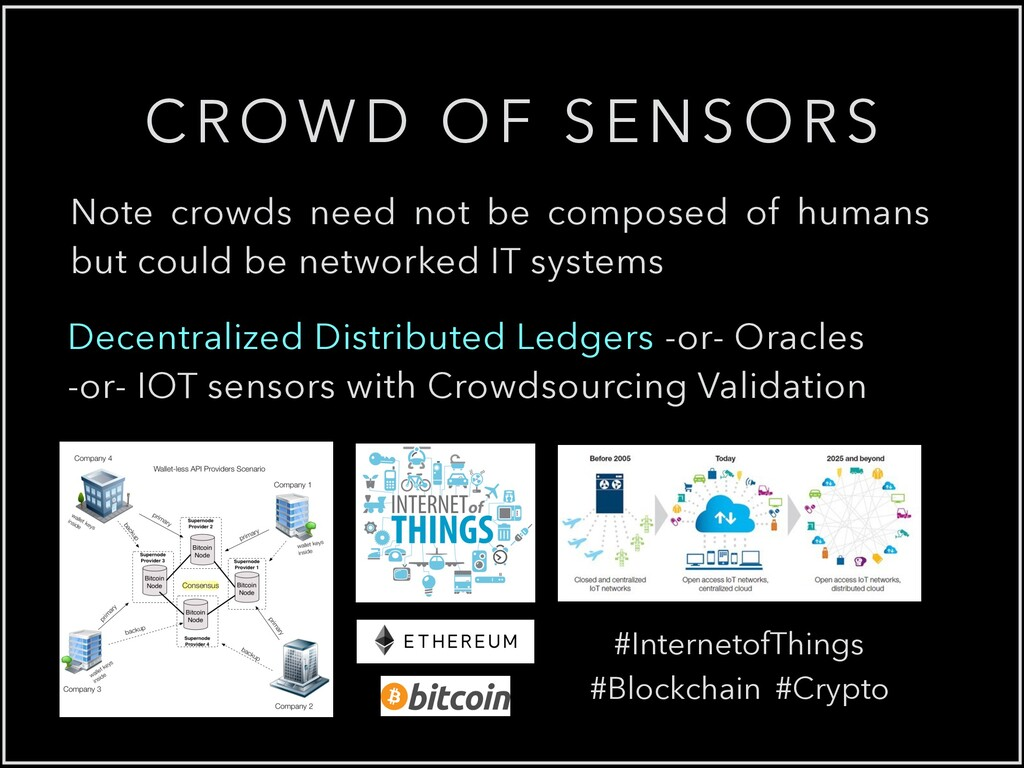CROWD OF SENSORS Note crowds need not be compos...