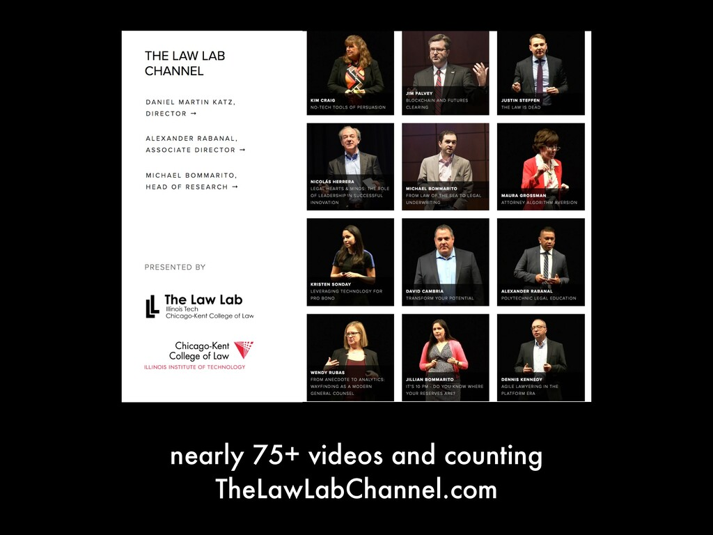 nearly 75+ videos and counting TheLawLabChannel...
