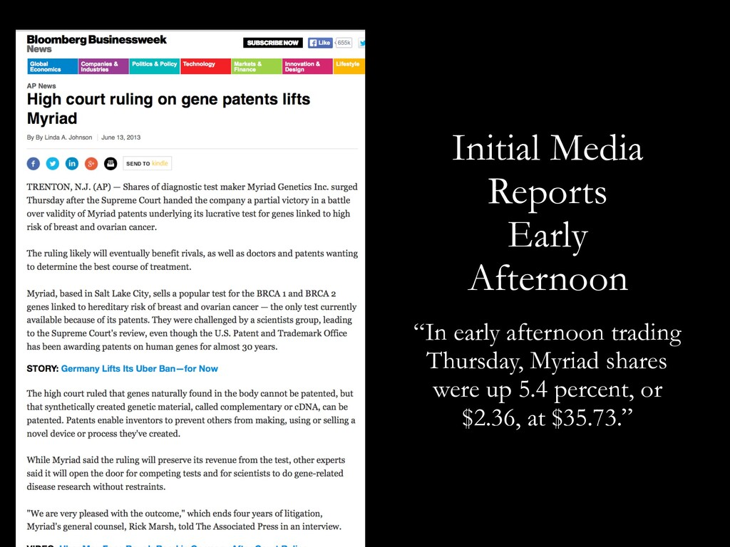 """Initial Media Reports Early Afternoon """"In early..."""