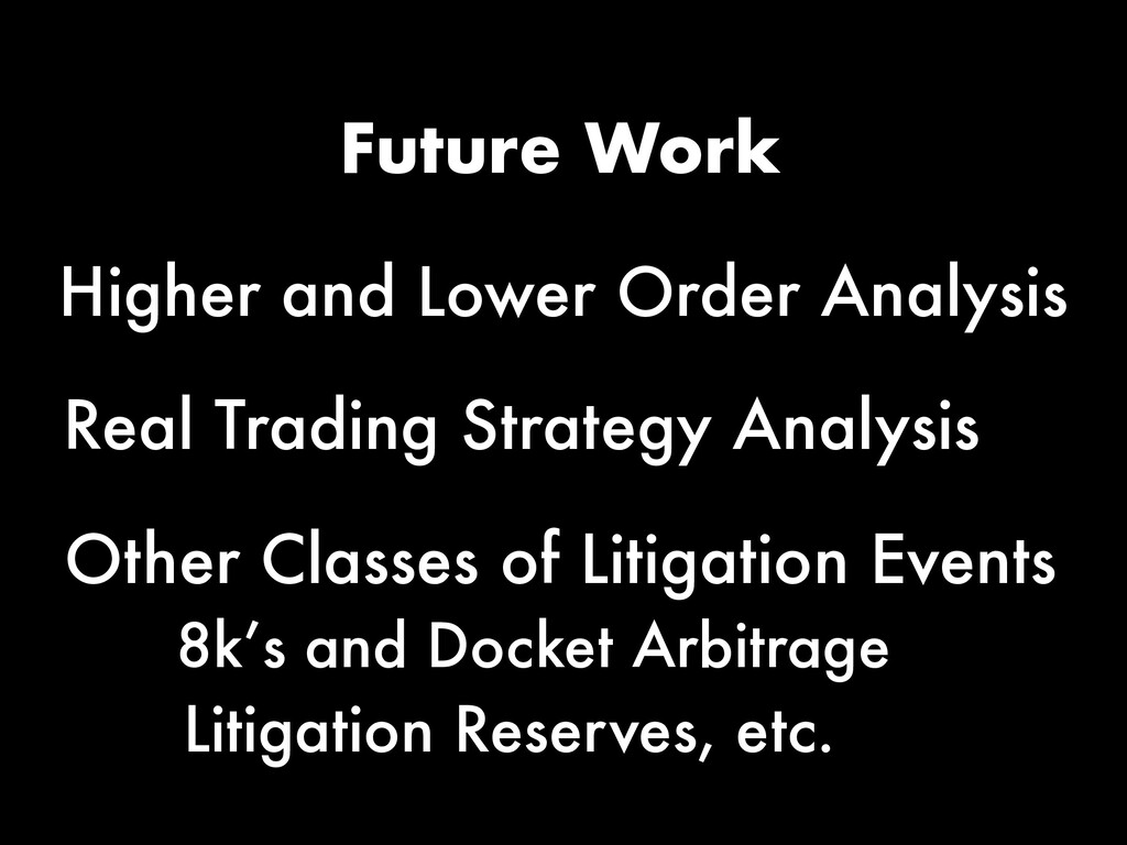 Future Work Real Trading Strategy Analysis Othe...