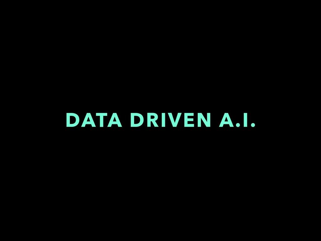 DATA DRIVEN A.I.