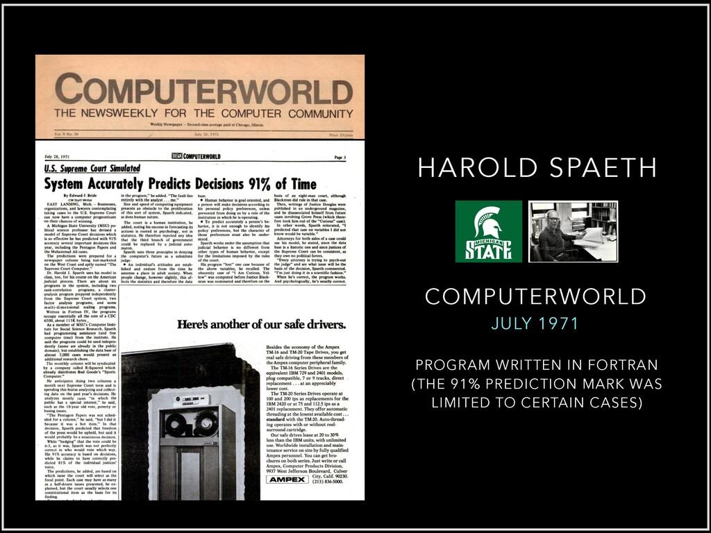 COMPUTERWORLD JULY 1971 PROGRAM WRITTEN IN FORT...
