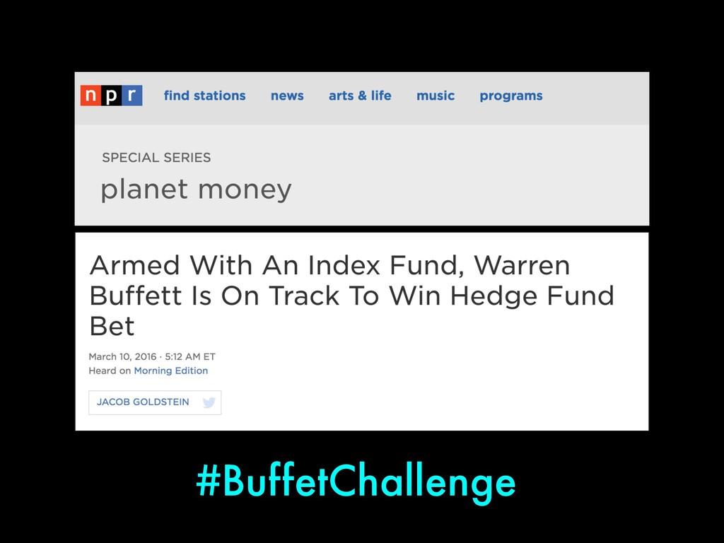 #BuffetChallenge