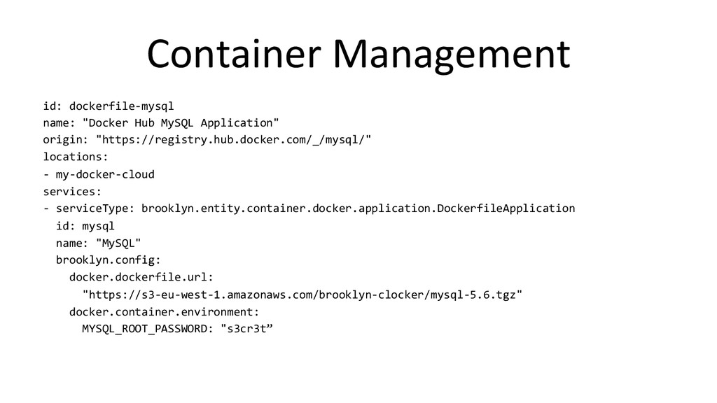 Container Management  id: dockerfile-...