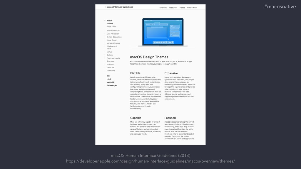 macOS Human Interface Guidelines (2018) https:/...
