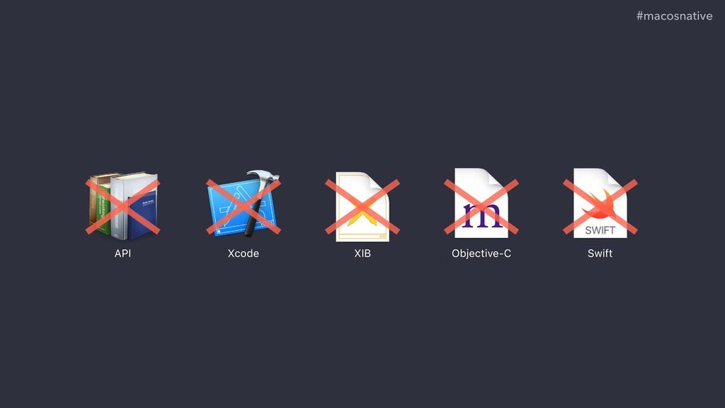 #macosnative API Xcode Objective-C Swift XIB