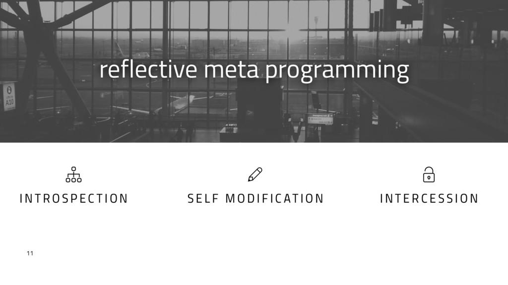 reflective meta programming I N T R O S P E C T...