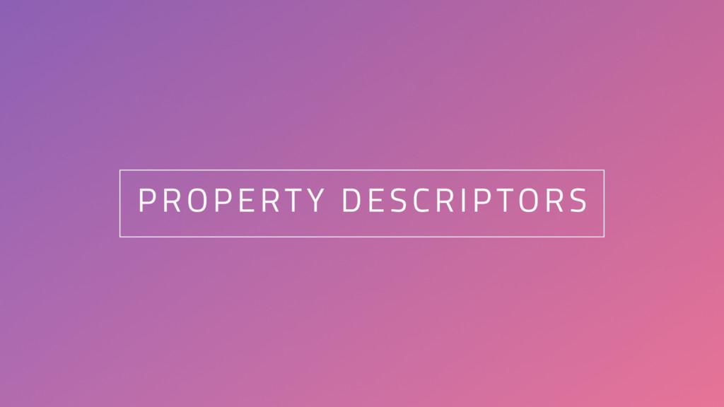 20 PROPERTY DESCRIPTORS