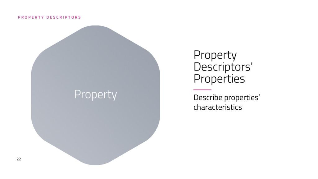 22 Property Descriptors' Properties Describe pr...