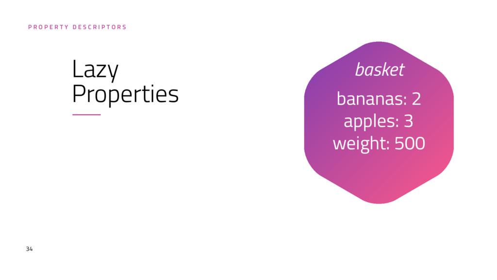 34 bananas: 2 apples: 3 weight: 500 P R O P E...