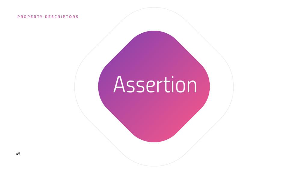 45 Assertion P R O P E R T Y D E S C R I P T O ...