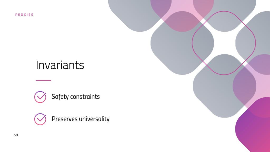 58 Safety constraints Invariants Preserves univ...
