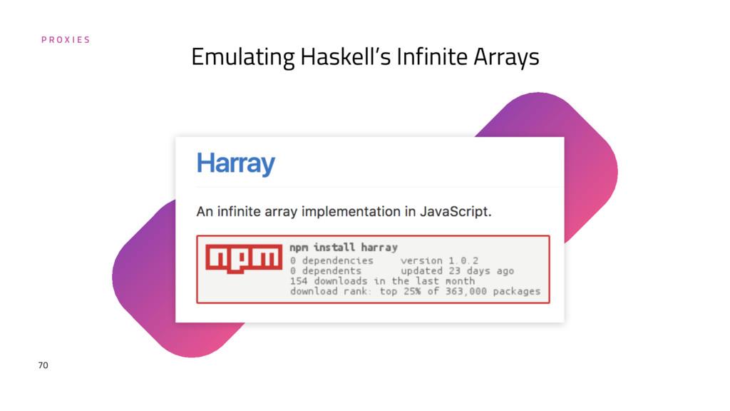P R O X I E S 70 Emulating Haskell's Infinite A...