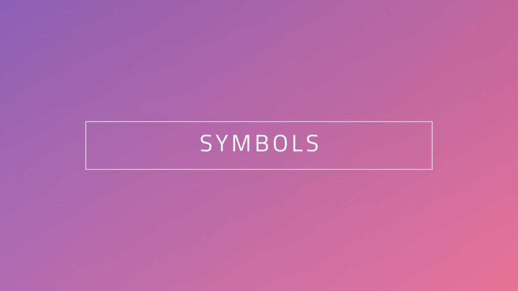 84 SYMBOLS