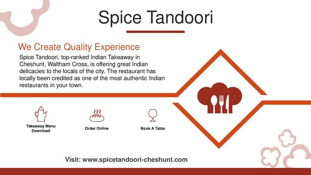 Spice Tandoori Takeaway Menu Download Order Onl...
