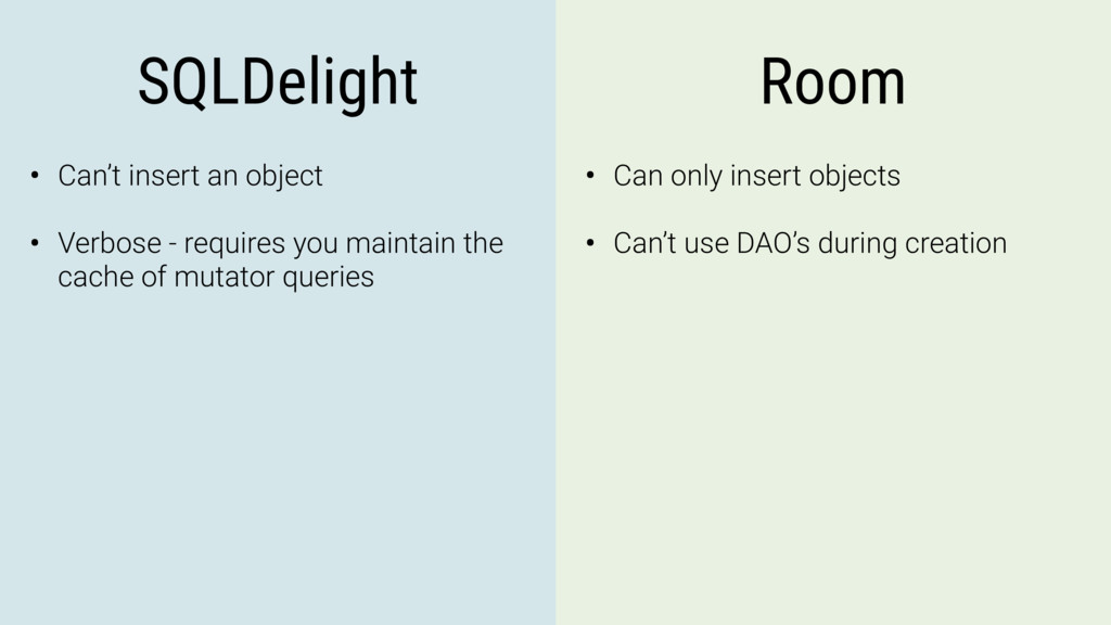 SQLDelight Room • Can't insert an object • Verb...