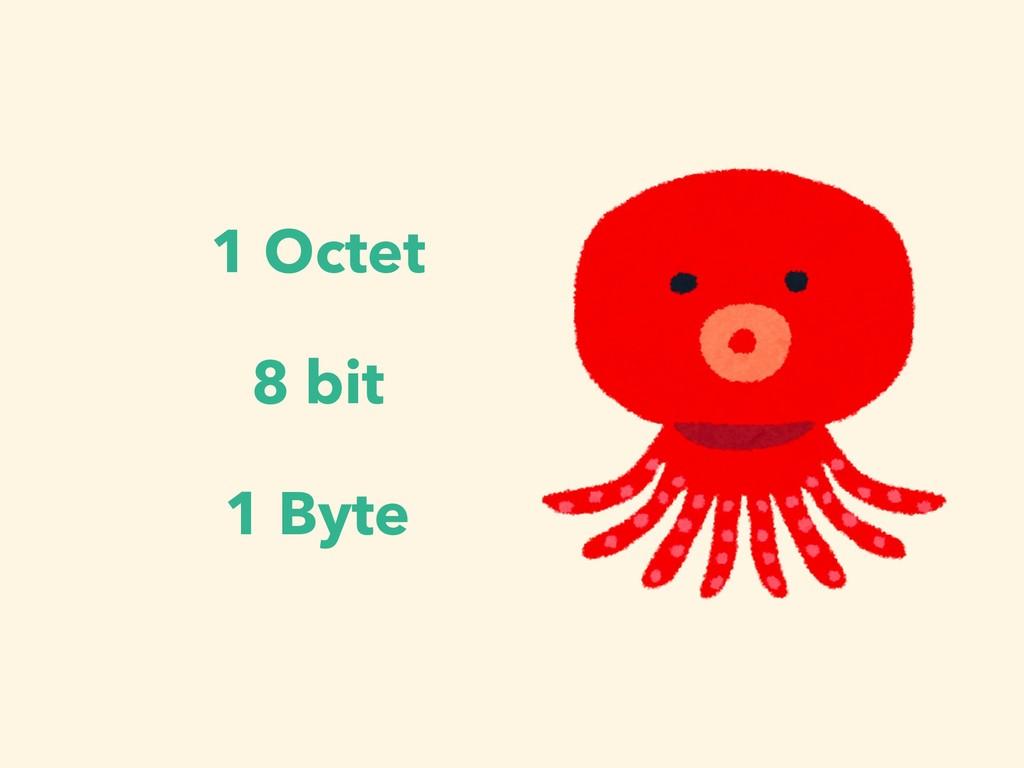 1 Octet 8 bit 1 Byte