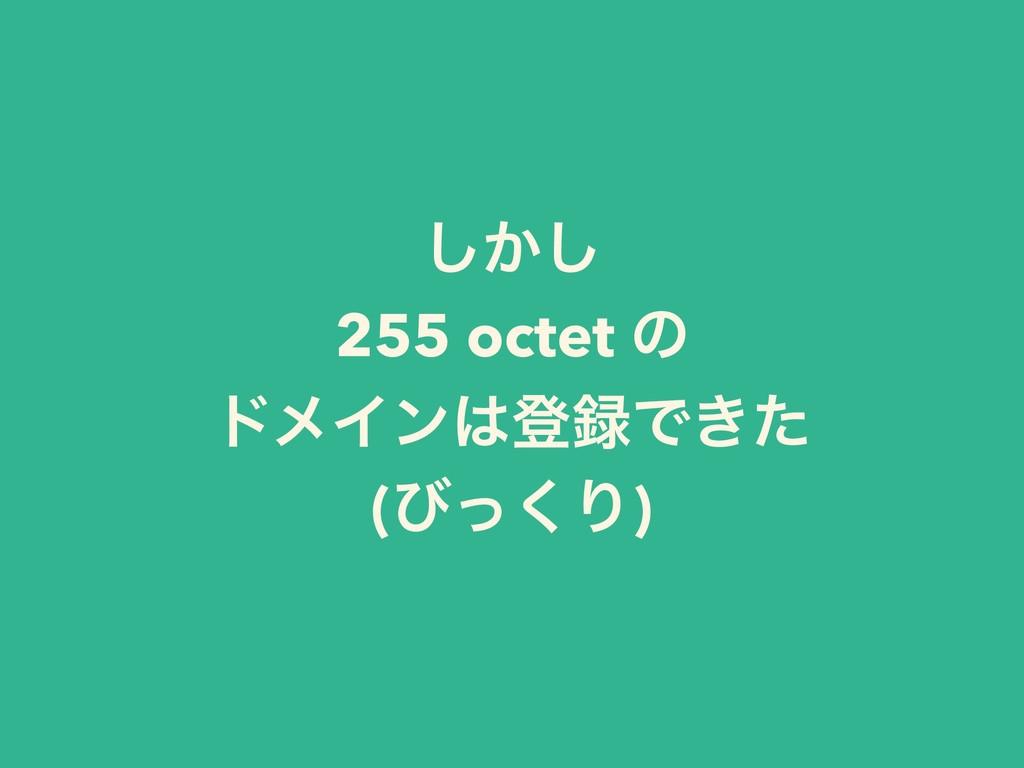 ͔͠͠ 255 octet ͷ υϝΠϯొͰ͖ͨ (ͼͬ͘Γ)