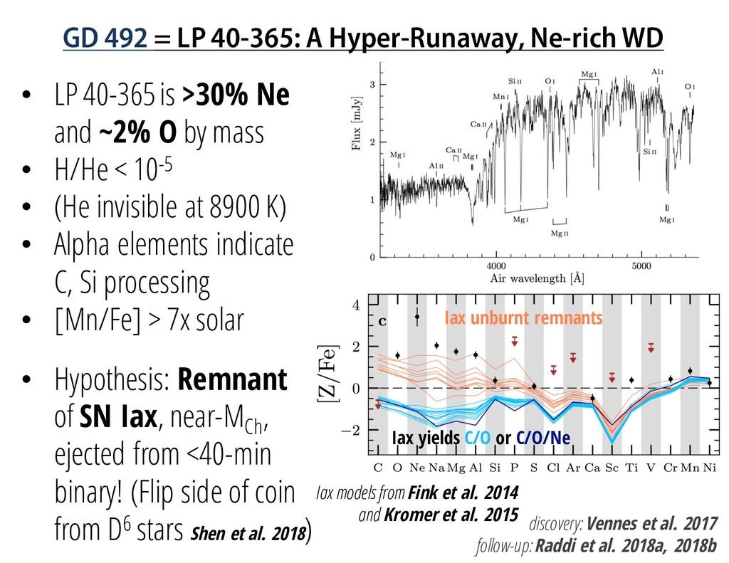 GD 492 = LP 40-365: A Hyper-Runaway, Ne-rich WD...