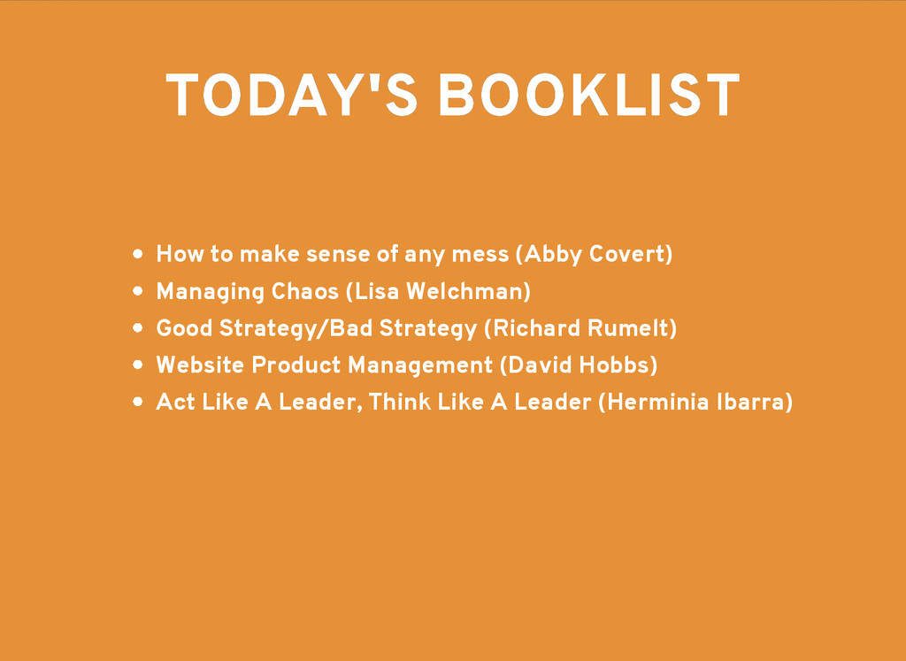 TODAY'S BOOKLIST TODAY'S BOOKLIST How to make s...