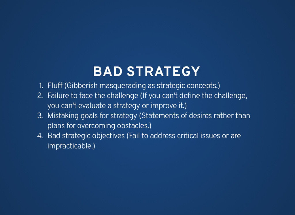 BAD STRATEGY BAD STRATEGY 1. Fluff (Gibberish m...
