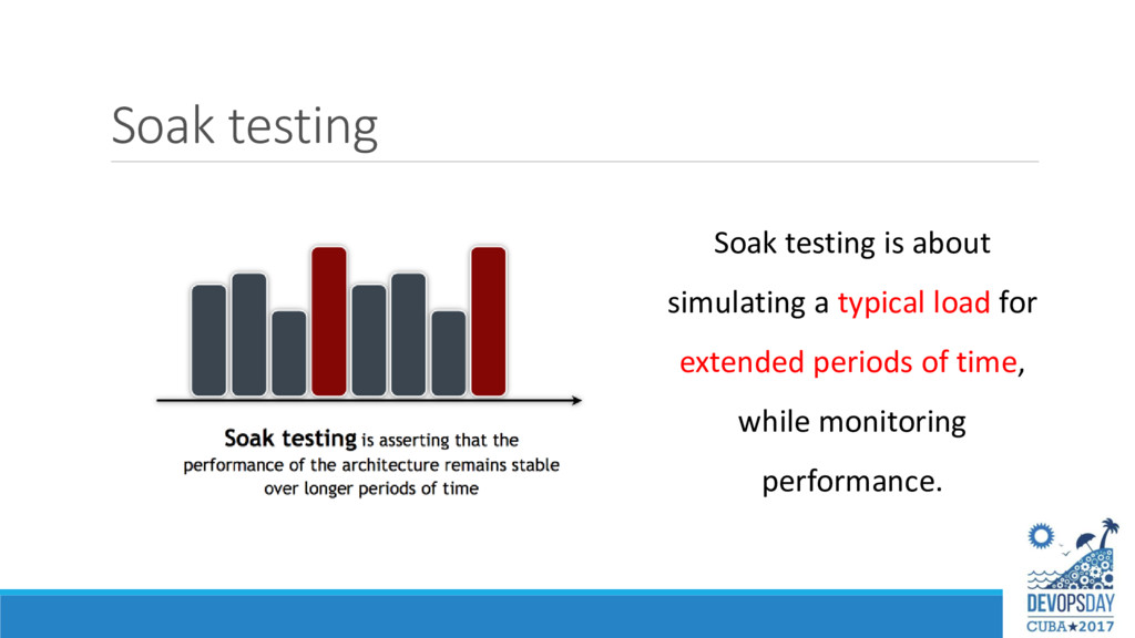 Soak testing Soak testing is about simulating a...