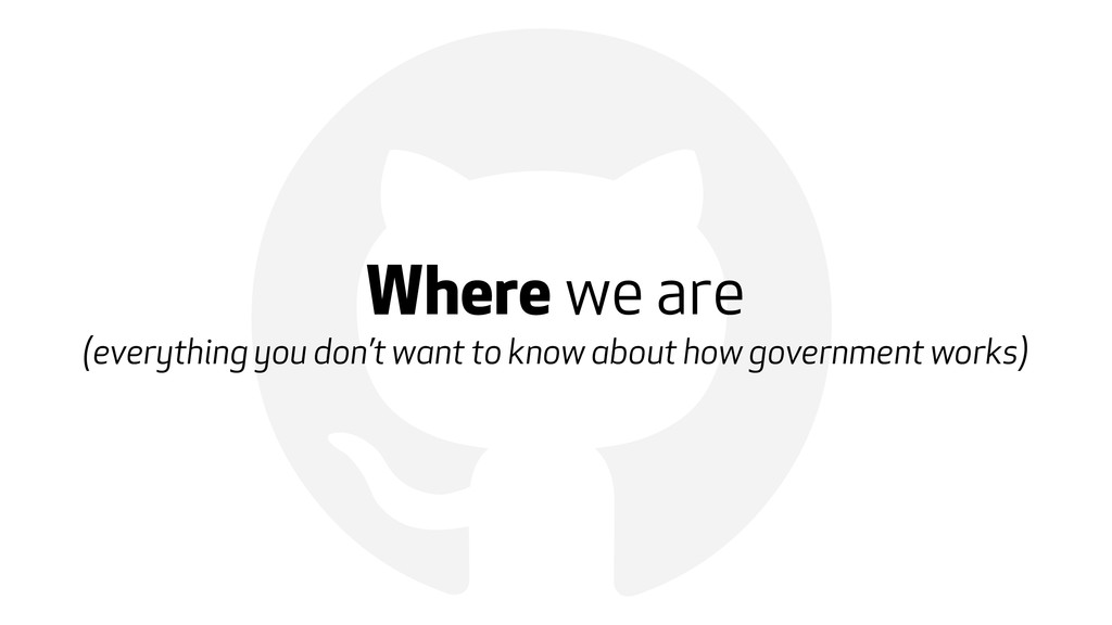! Where we are (everything you don't want to kn...