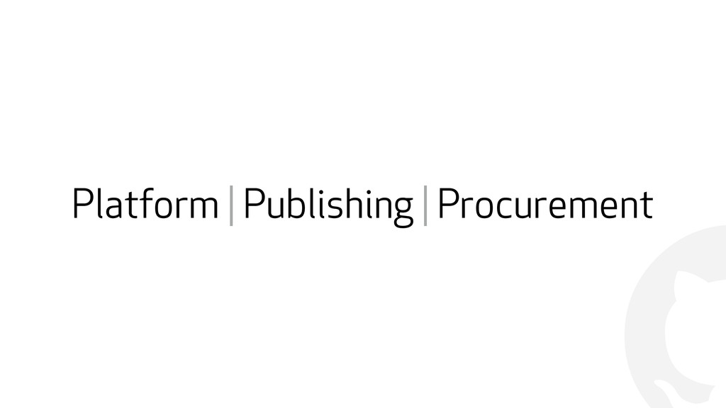 ! Platform | Publishing | Procurement