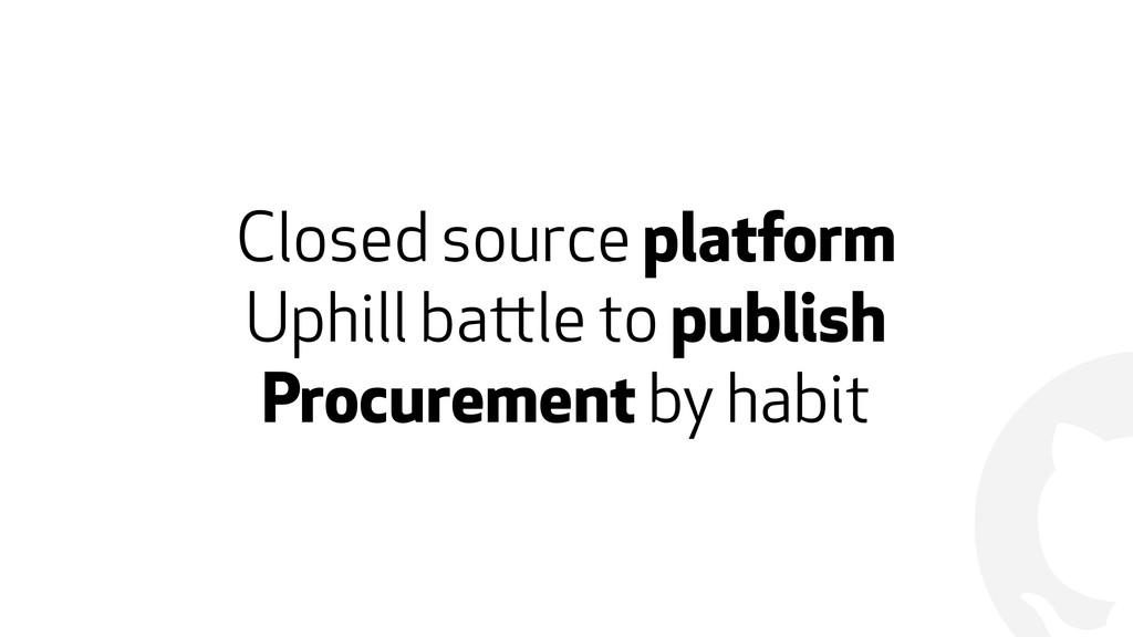 ! Closed source platform Uphill battle to publi...