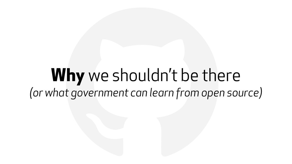 ! Why we shouldn't be there (or what government...