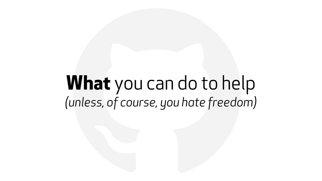 ! What you can do to help (unless, of course, y...