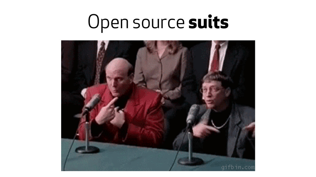 Open source suits