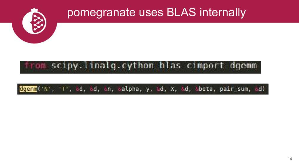 14 pomegranate uses BLAS internally