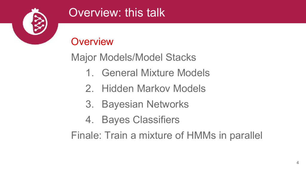 Overview: this talk 4 Overview Major Models/Mod...