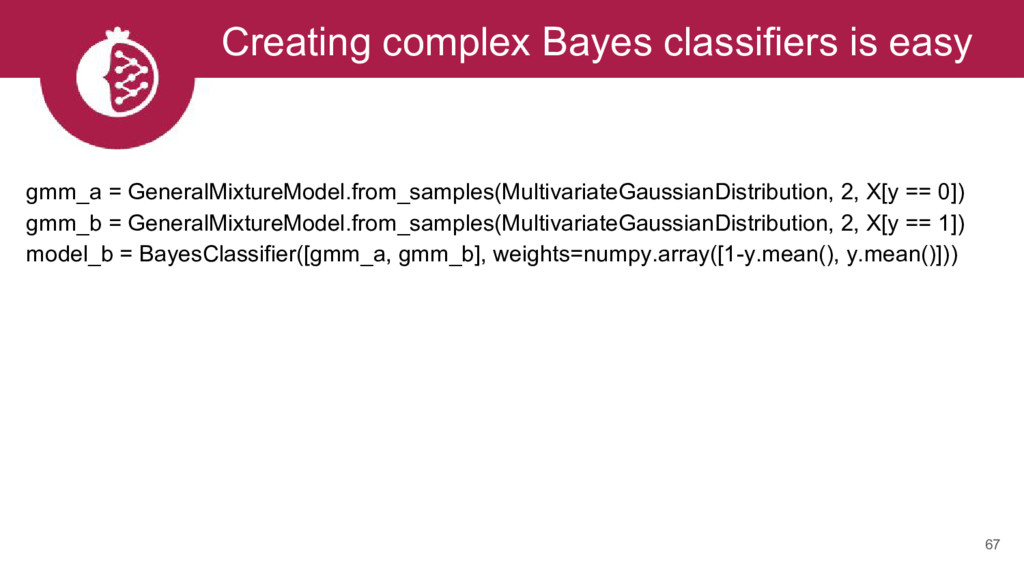 Creating complex Bayes classifiers is easy 67 g...