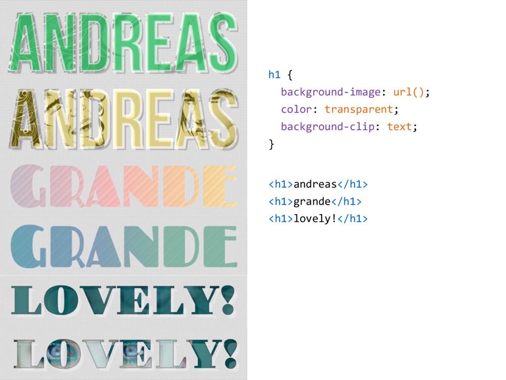 h1 { background-image: url(); color: transparen...