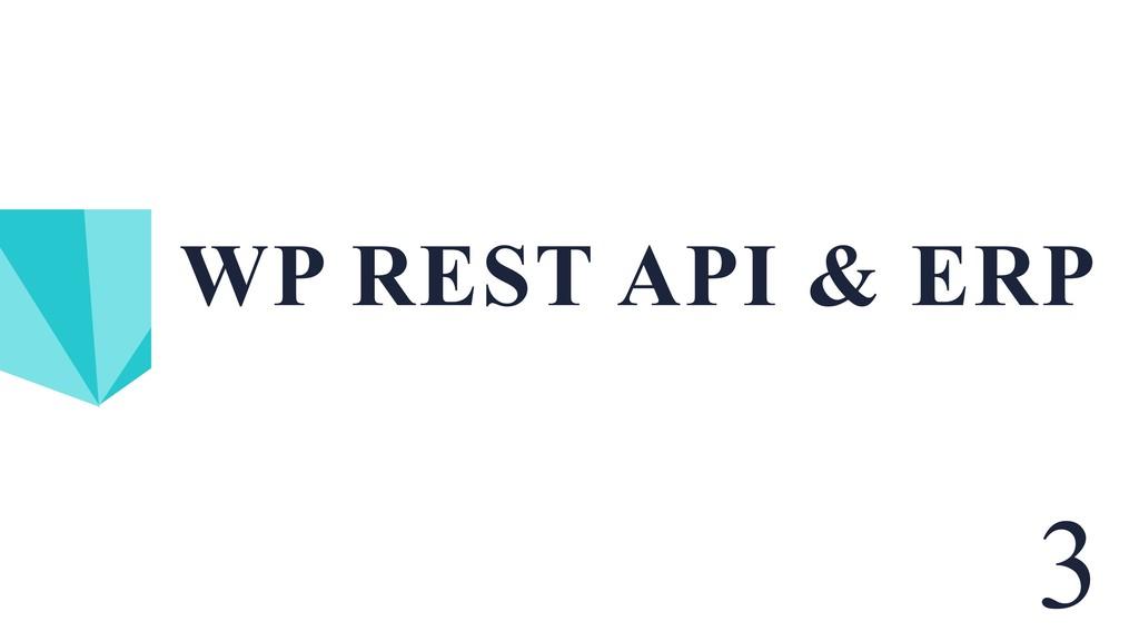 WP REST API & ERP 3