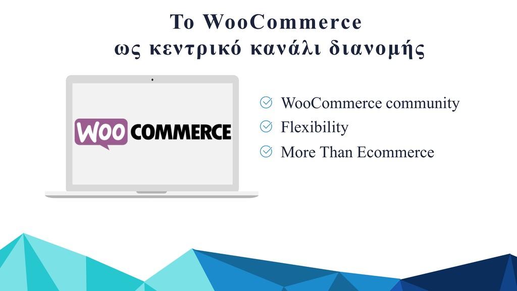 Το WooCommerce ως κεντρικό κανάλι διανοµής More...