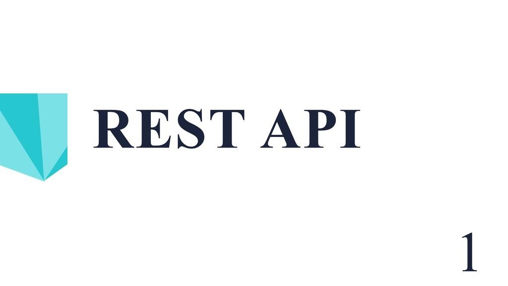 REST API 1