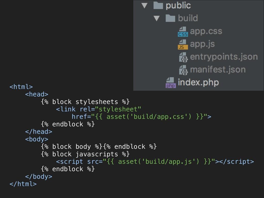 <html> <head> {% block stylesheets %} <link ...