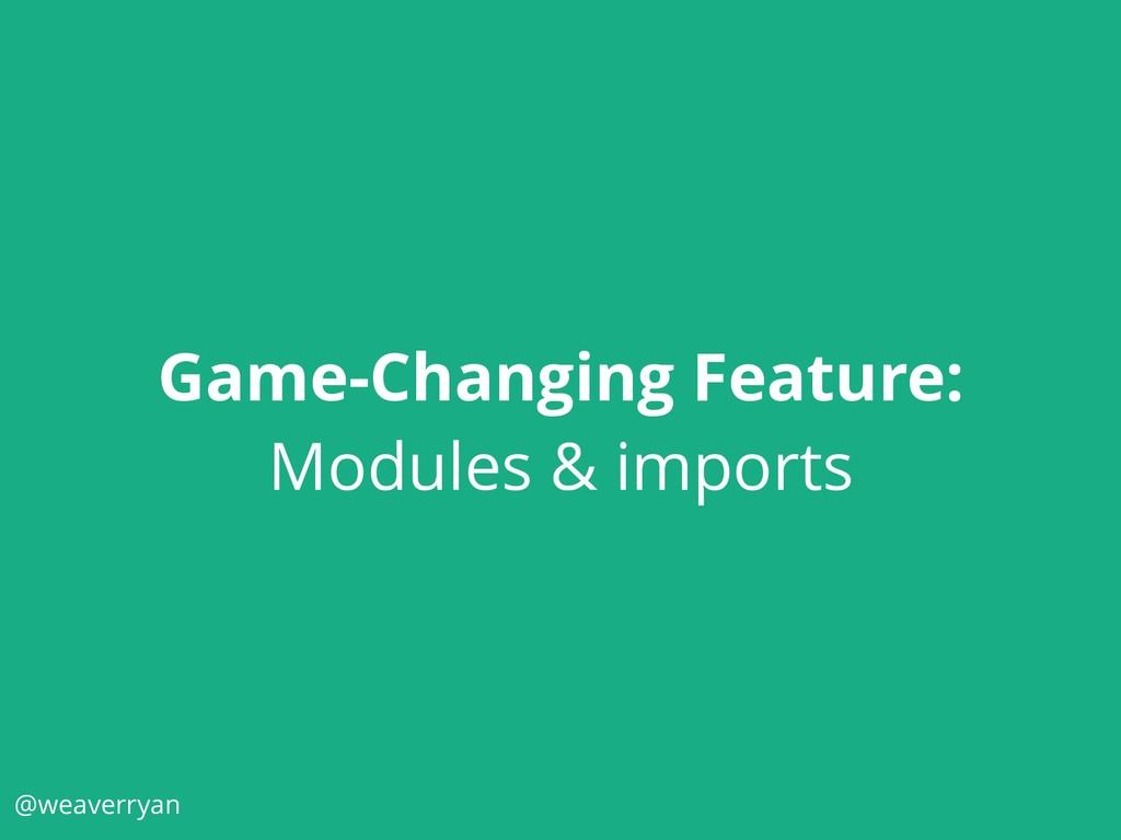 @weaverryan Game-Changing Feature: Modules & im...