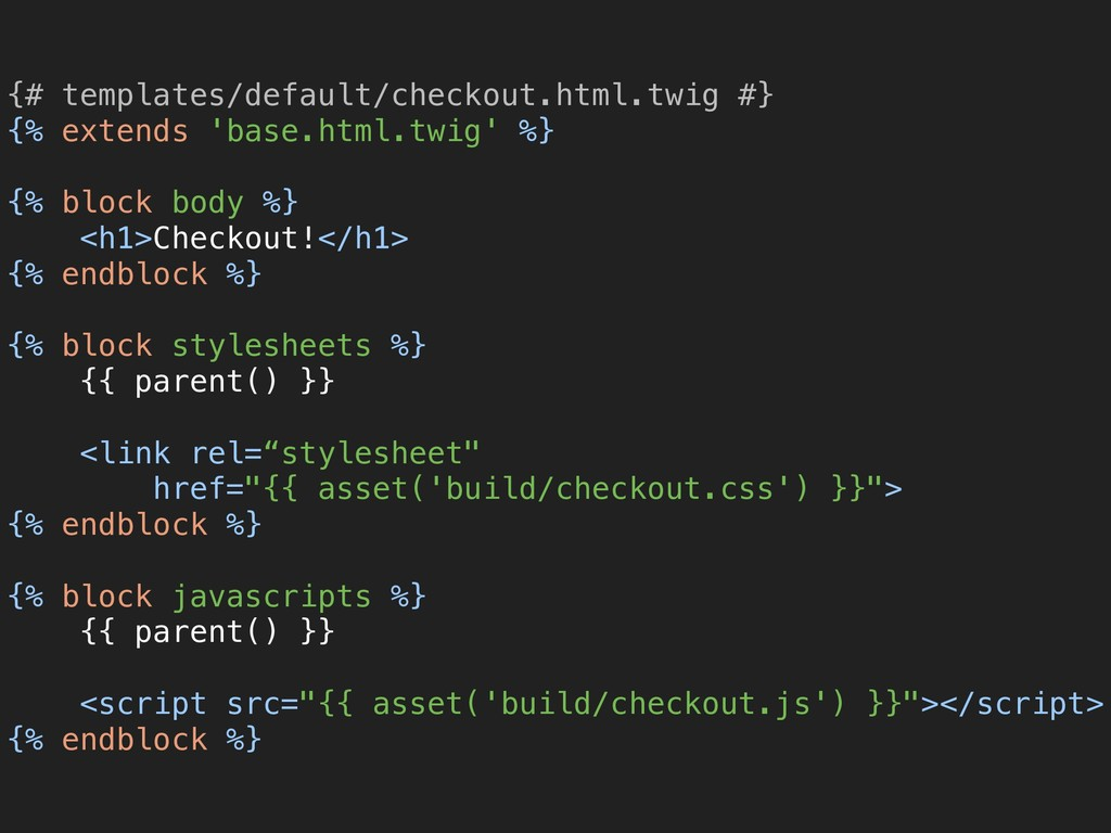 {# templates/default/checkout.html.twig #} {% ...