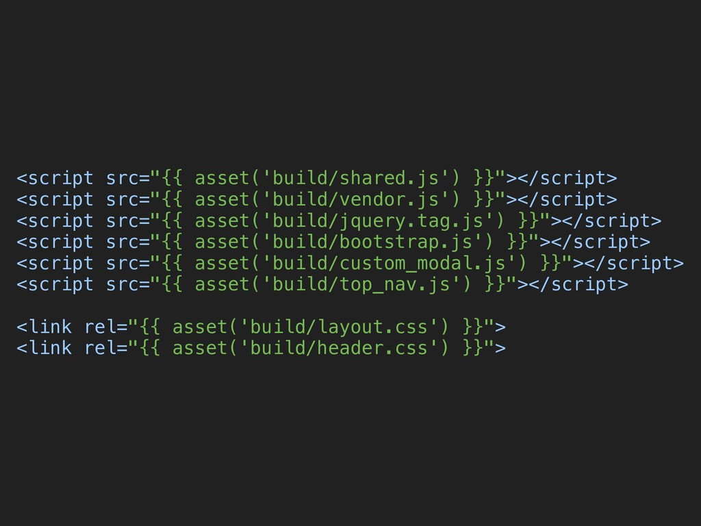 """<script src=""""{{ asset('build/shared.js') }}""""></..."""
