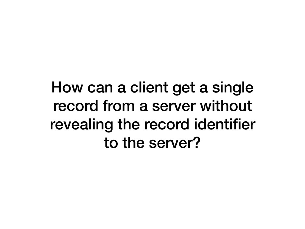 How can a client get a single record from a ser...