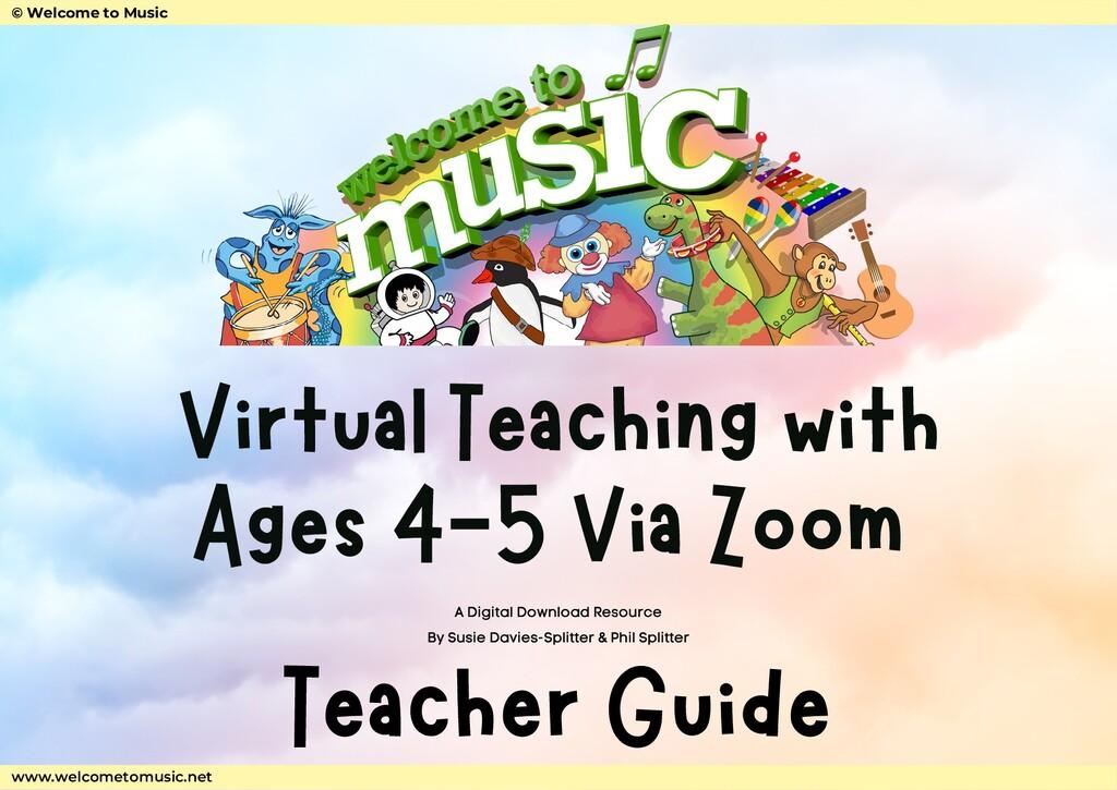 Virtual Teaching with Ages 4-5 Via Zoom Teacher...