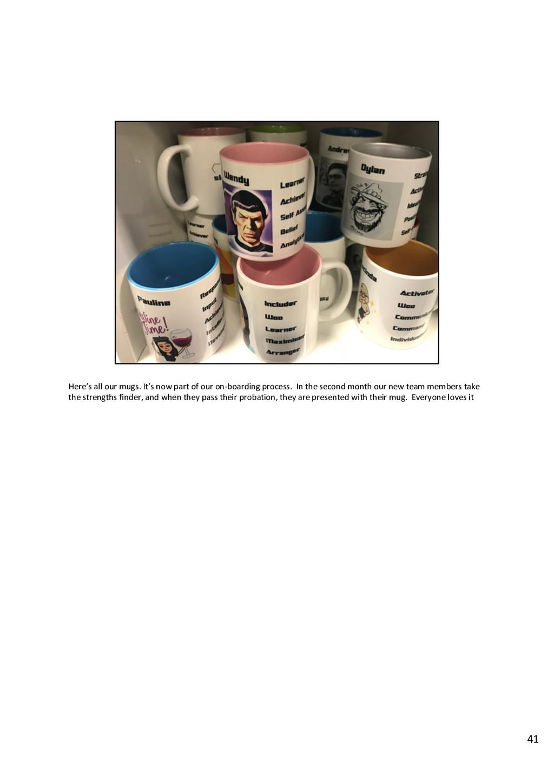 Here's all our mugs. It's now part of our on-bo...